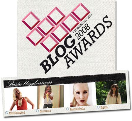 Wow - jag är nominerad i Veckorevyns BlogAwards!
