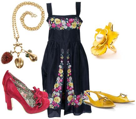 Blommig klänning från Cacharel