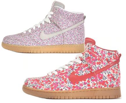 Blommiga sneakers