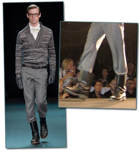 Boots och kostymbyxor
