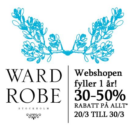 Wardrobe Stockholms nätbutik firar 1 år