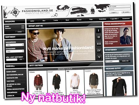 Ny nätbutik: Fashionisland