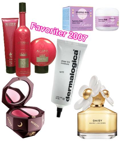 Bästa skönhetsprodukterna 2007