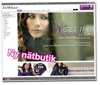 Ny nätbutik: InWearshop.com