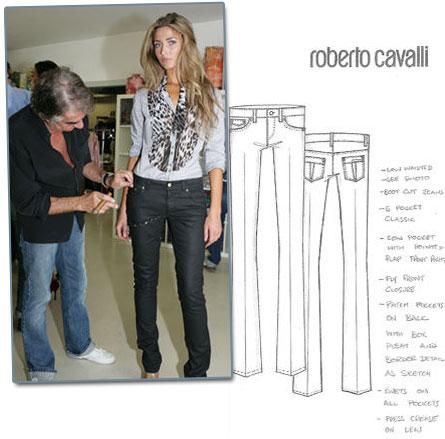 Roberto Cavalli's H&M jeans