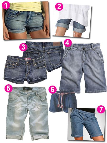 7 par jeansshorts under 500 kr