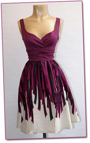 Lila klänning