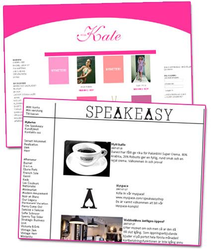 Nya nätbutiker: Miss Kate & SpeakEasy
