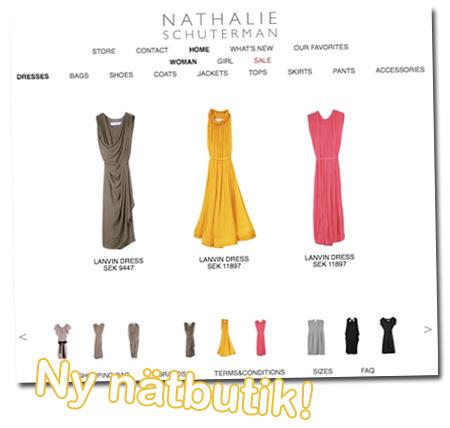 Ny nätbutik: Nathalie Schuterman