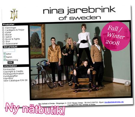 Ny nätbutik: Nina Jarebrink