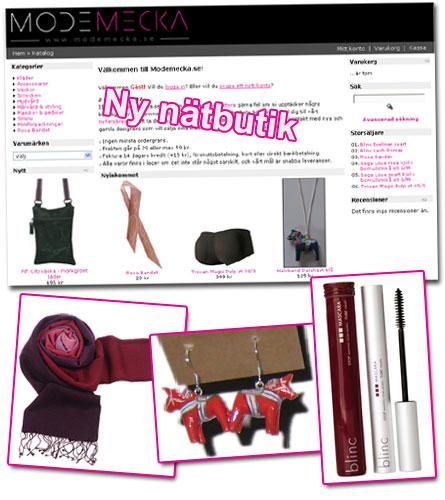 Ny nätbutik: Modemecka