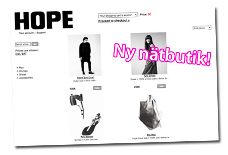 Ny nätbutik: Hope