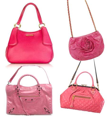 Rosa väskor