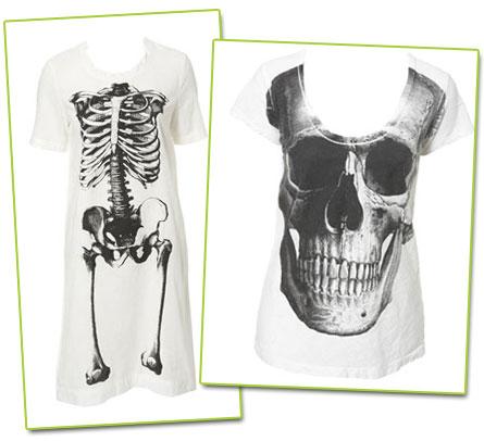 Tröjor med skelettryck