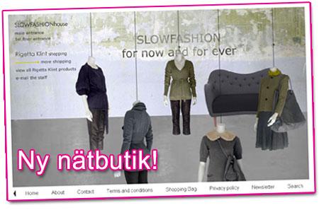 Ny nätbutik: SLOWFASHIONhouse