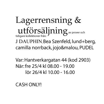 Utförsäljningstips i Stockholm