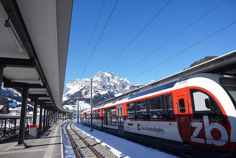 tåg till Engelberg