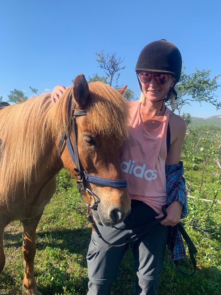 Islandshästen Odin och jag