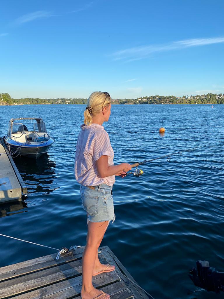 fiska med båt